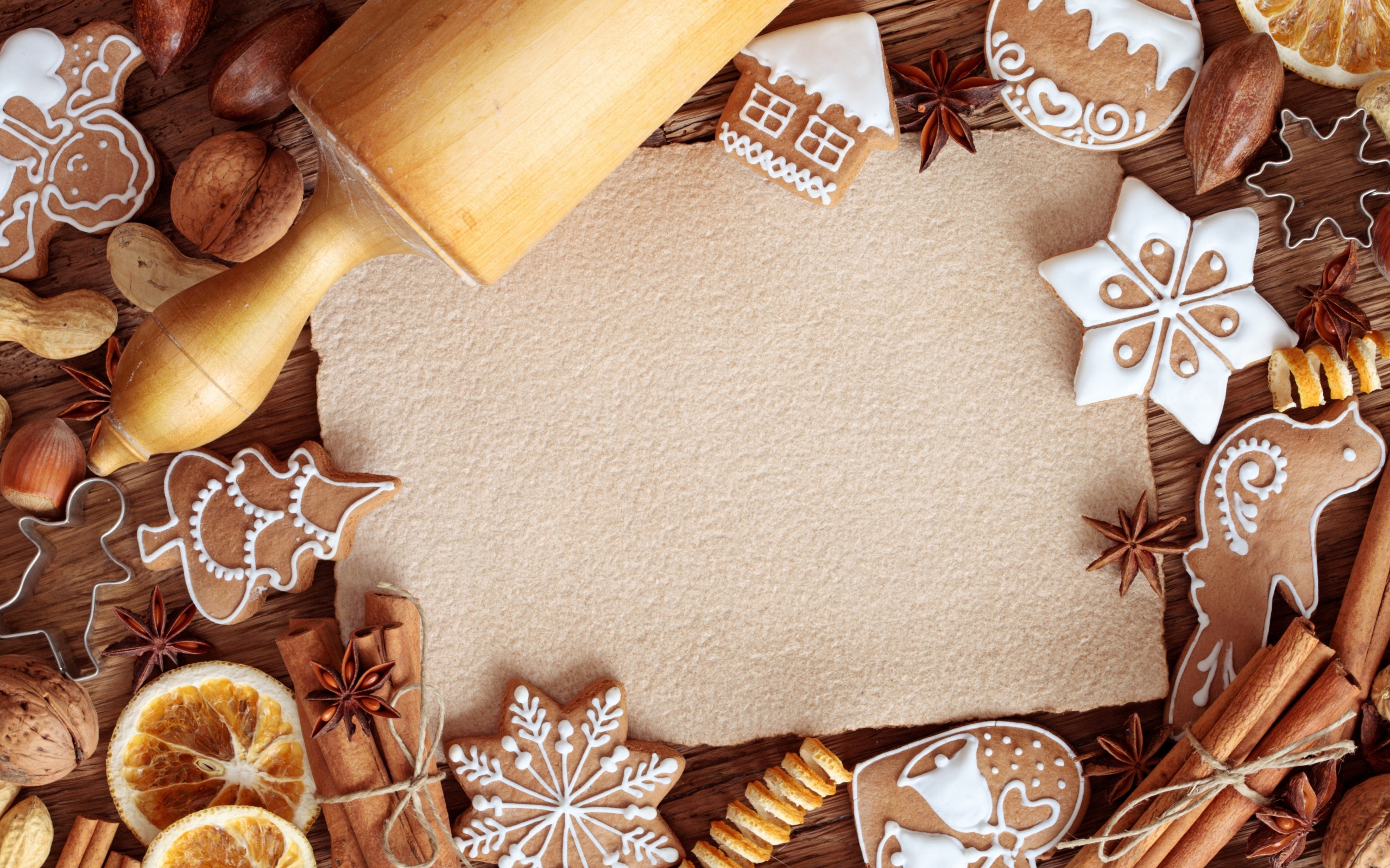 Preparation of Christmas cookies Desktop wallpapers 2560x1600 2560x1600