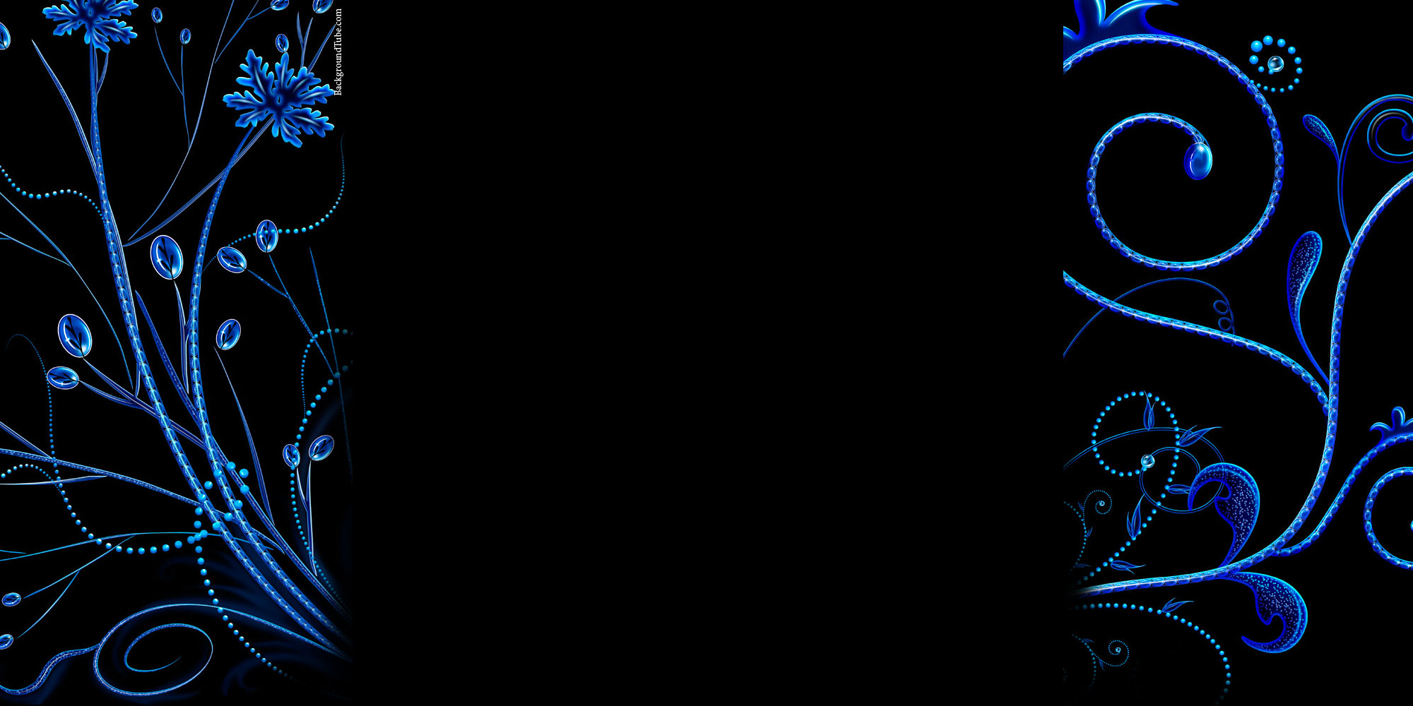 blue and black background design