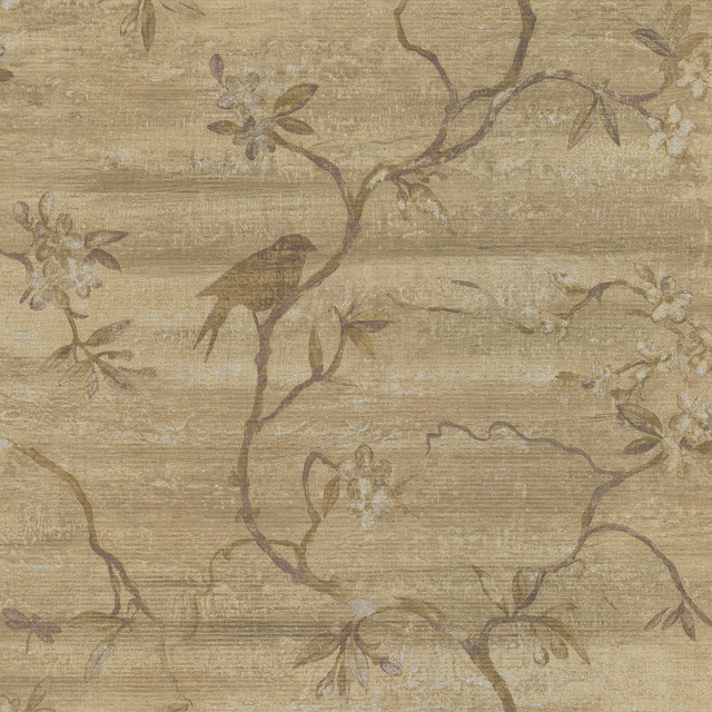 Bird Tree Wallpaper   Traditional   Wallpaper   by Brewster Home 640x640