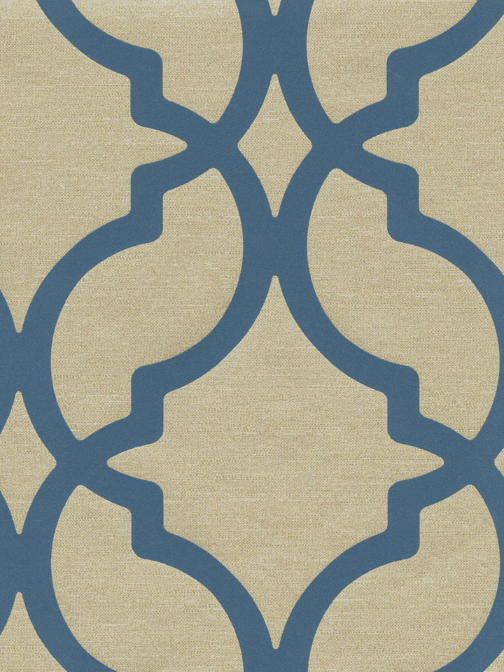 Blue Contempo Trellis Wallpaper   Traditional Wallpaper 720x960