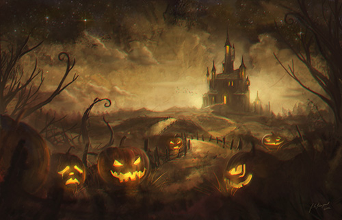 Scary Halloween Background 500x321