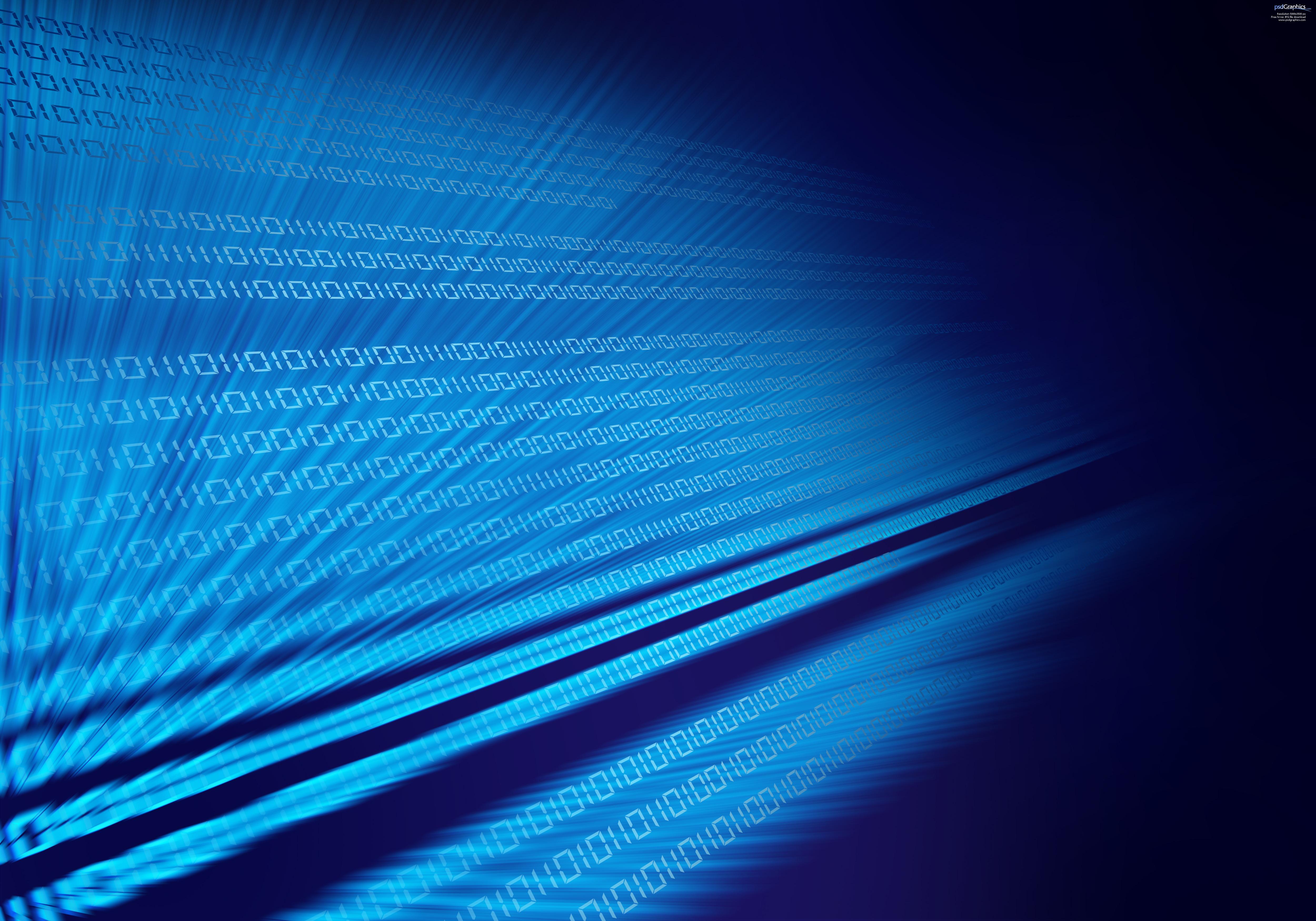Blue binary code digital background PSDGraphics 5000x3500
