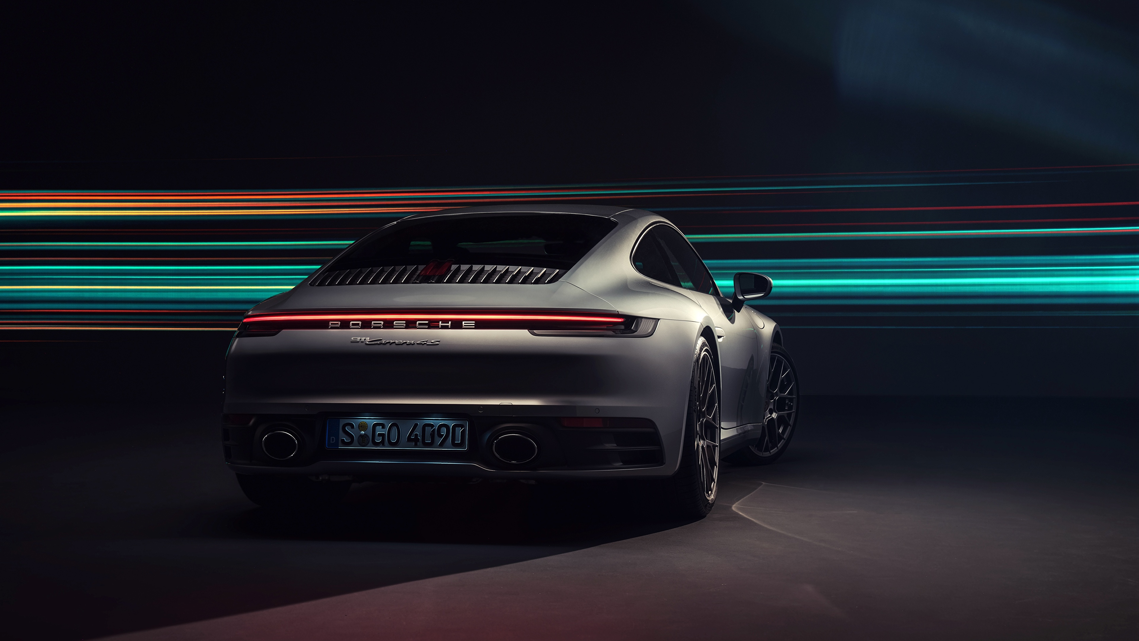 Wallpaper Porsche 911 Carrera 4S 2019 Back view automobile 3840x2160 3840x2160