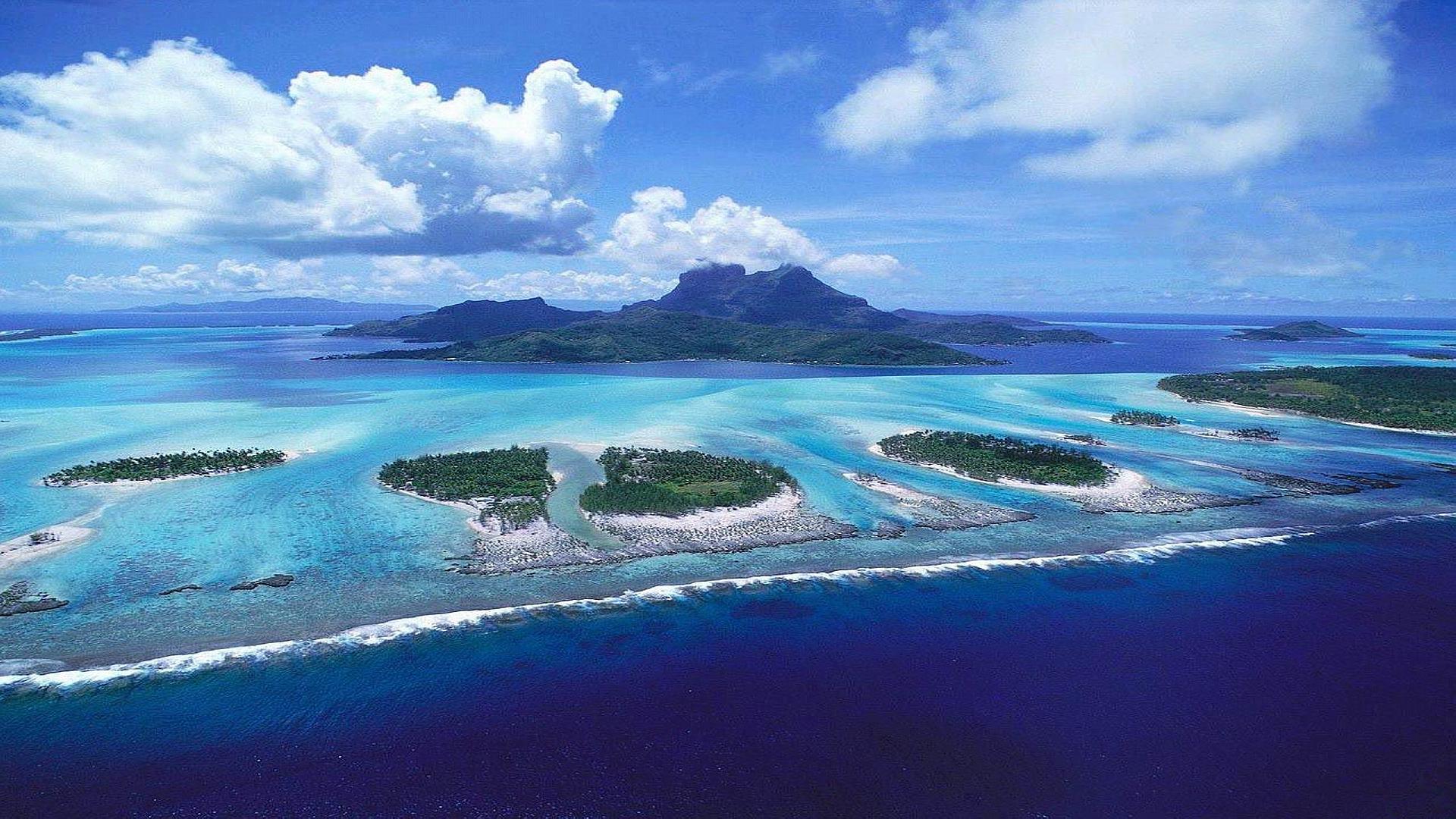 Tropical Islands Blue Ocean Wallpapers Photo 1920x1080