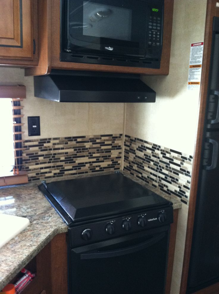 Kitchens with backsplash tiles