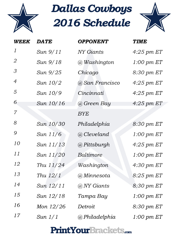 Back Calendar For dallas cowboys calendar schedule 590x764