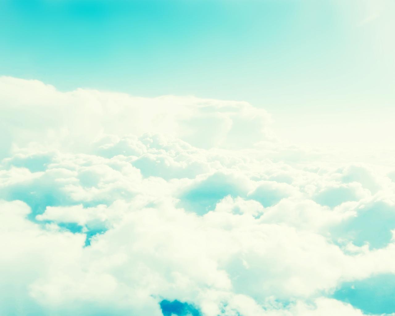 1280x1024 Light Blue Cloudy Sky desktop PC and Mac wallpaper 1280x1024