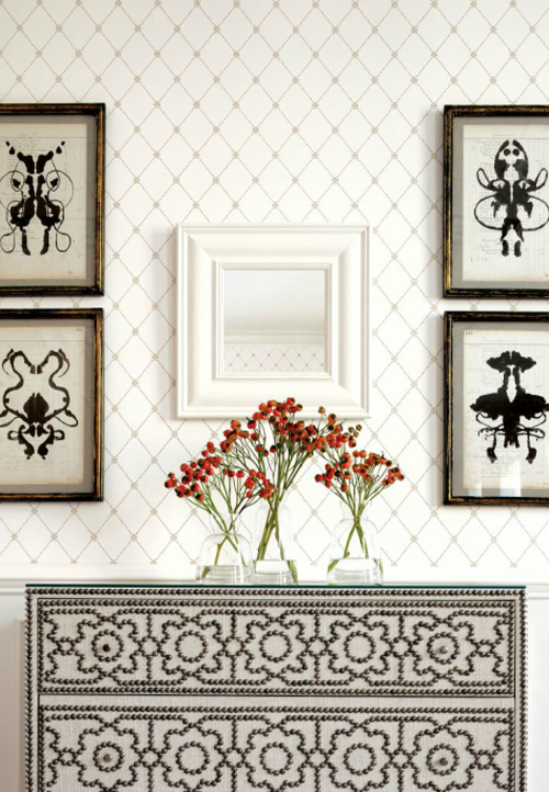 Free Download Trellis Wallpaper Chic Neutral 500x722 For Your