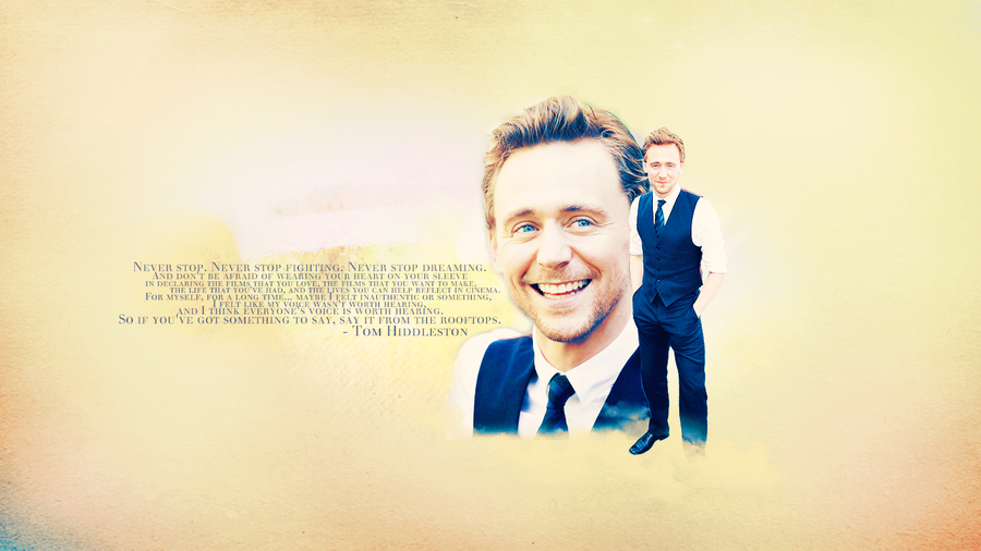Tom Hiddleston Wallpaper by chiaratippy 900x506