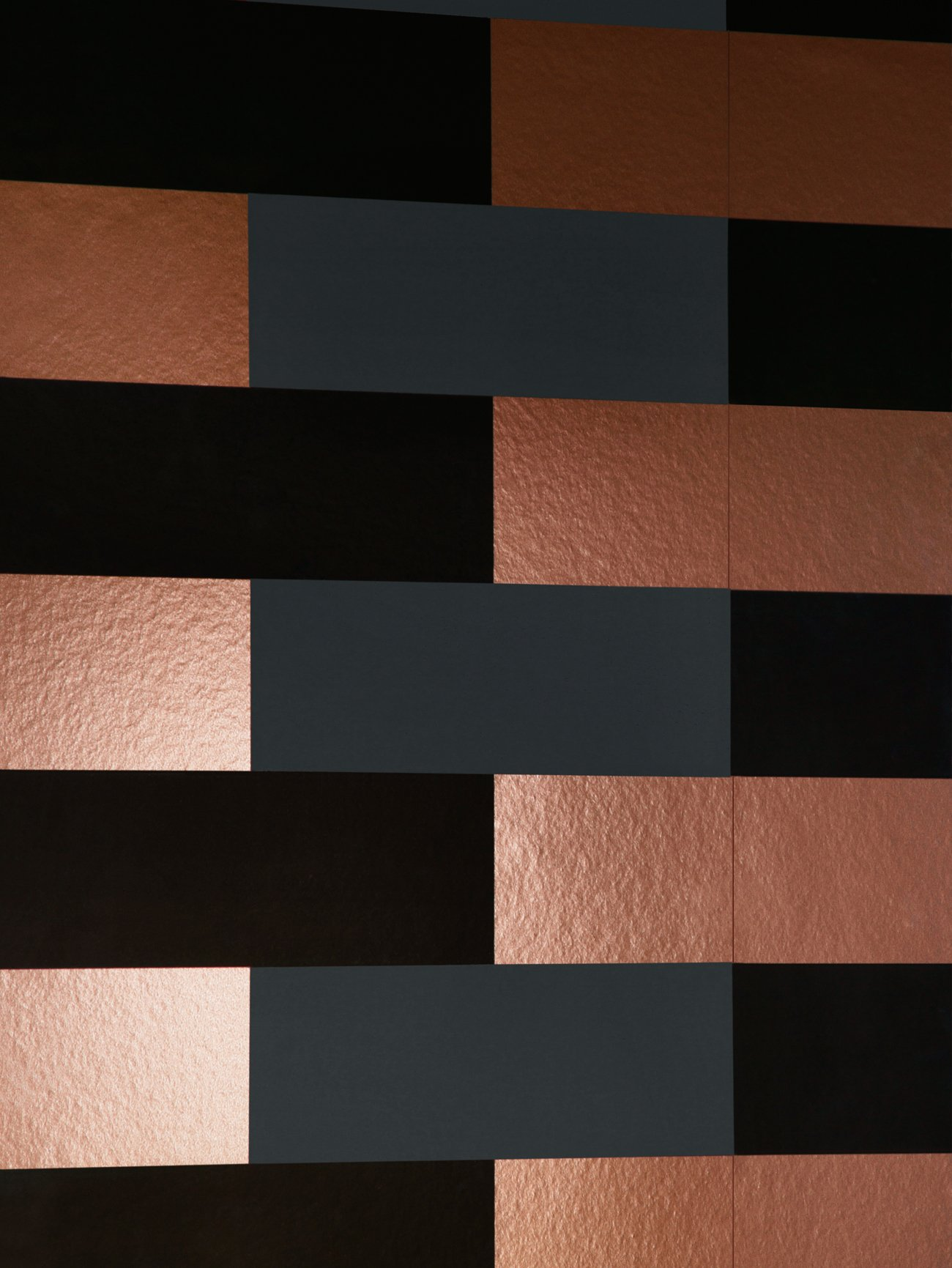 Block Wallpaper   Copper Burnish Grey Black Monument Interiors 1300x1731