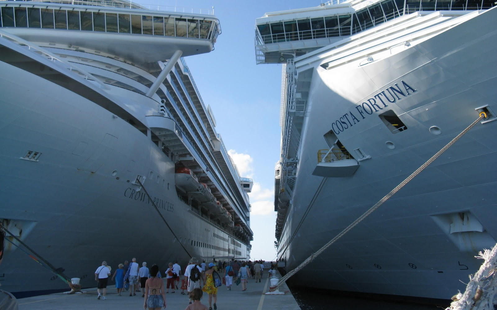 ships Costa Fortuna and Crown Princess 2012 download wallpapers 1600x1000