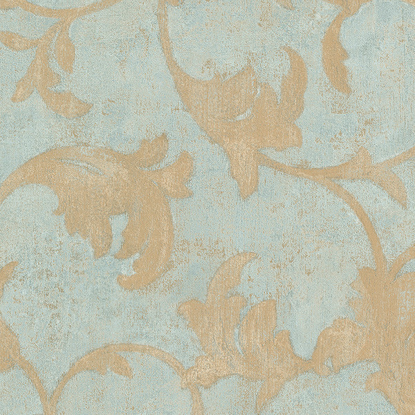 Damask in Teal Blue and Gold   TE29309   Traditional   Wallpaper   by 600x600