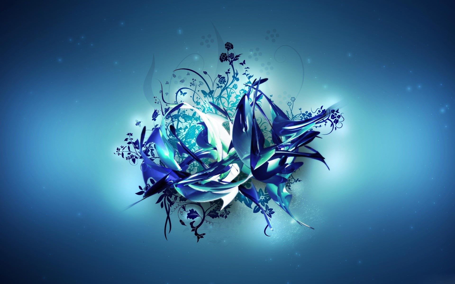 3d Blue Abstract Wallpaper 8544 Hd Wallpapers in 3D   Imagescicom 1920x1200