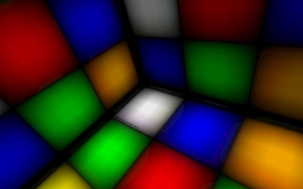 Rubiks Cube Wallpaper by SwissLetsPaint 1024x640