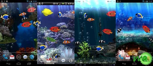 fish tank 3d live wallpaper download 640x277