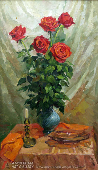 Painting for sale Red roses painting art sale realism flowers 335x580