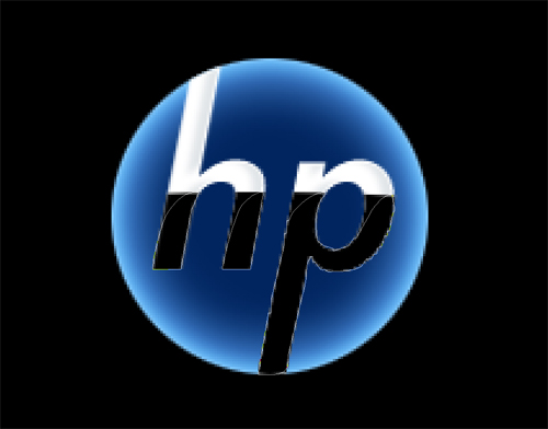 3D HP Logo Wallpaper