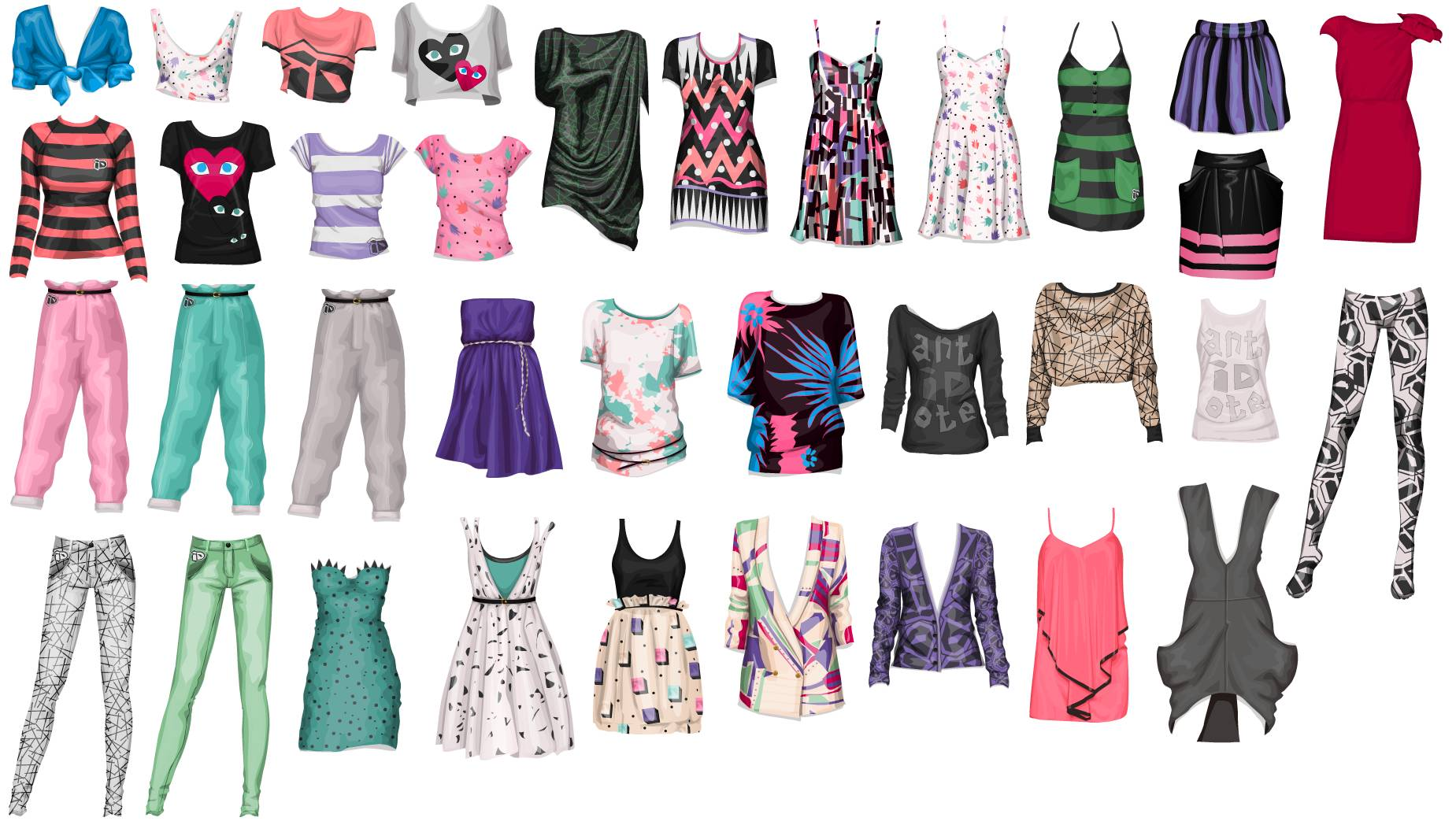 Stardoll Clothes A bunch of different stardoll clothes 1849x1062
