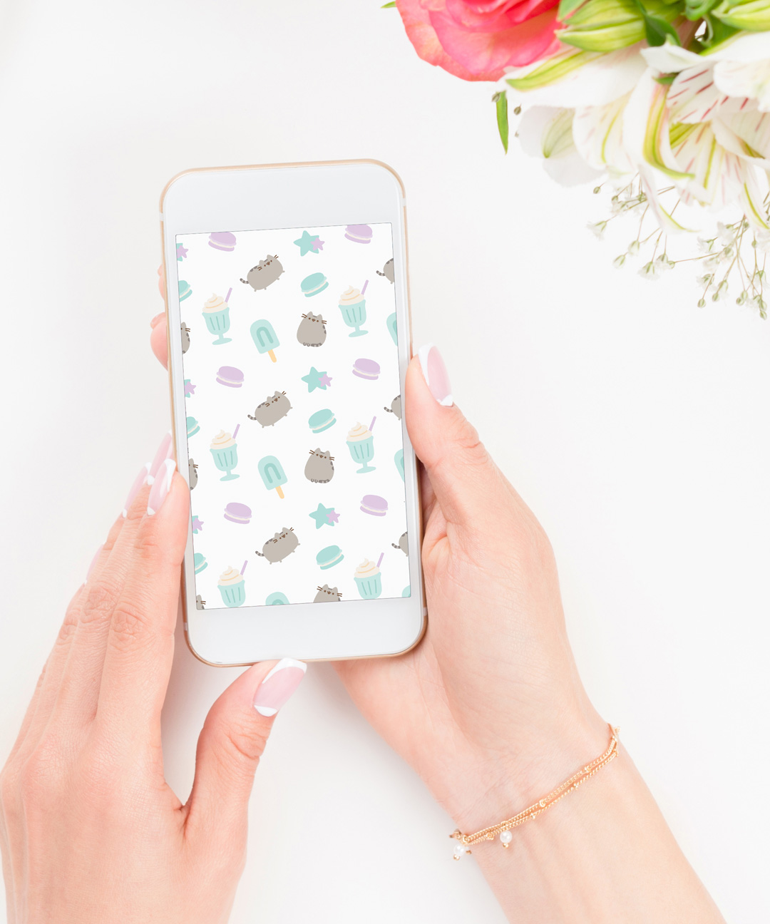 Pusheen Brighten Up Your Phone With 4 New Wallpapers from 1080x1296