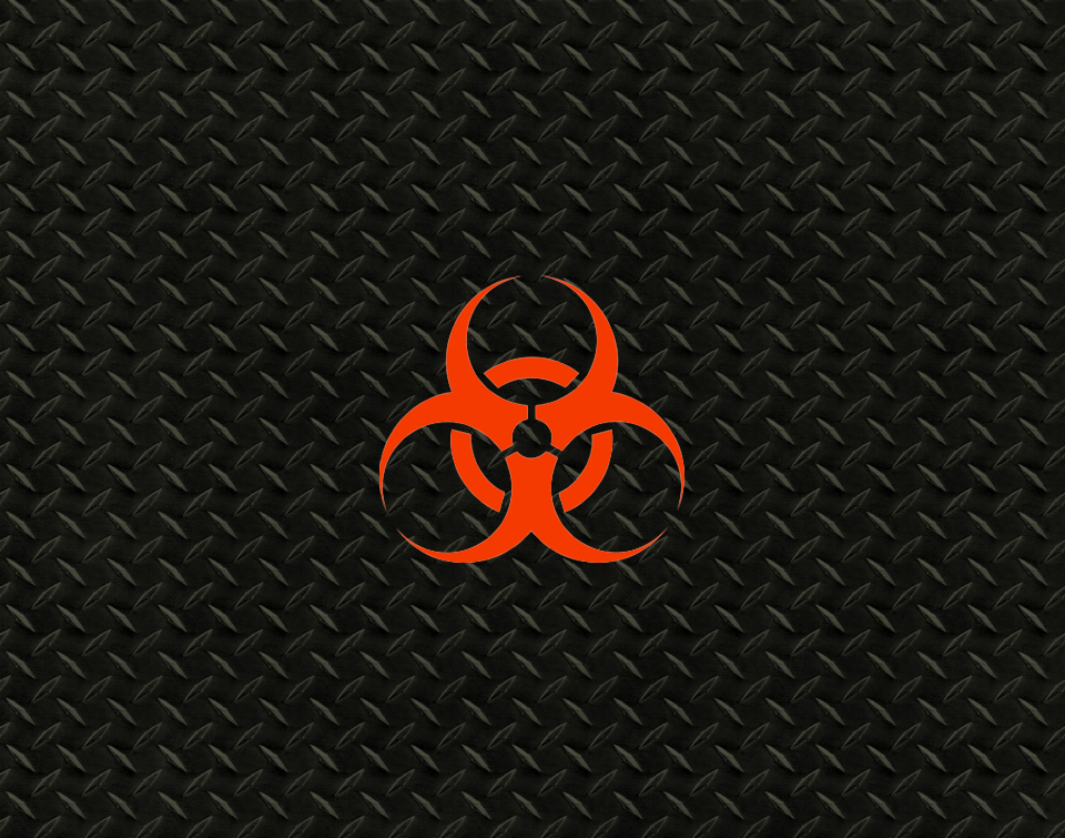 Orange and Black Bio Hazard Wallpaper by 865SenseiMods 960x755