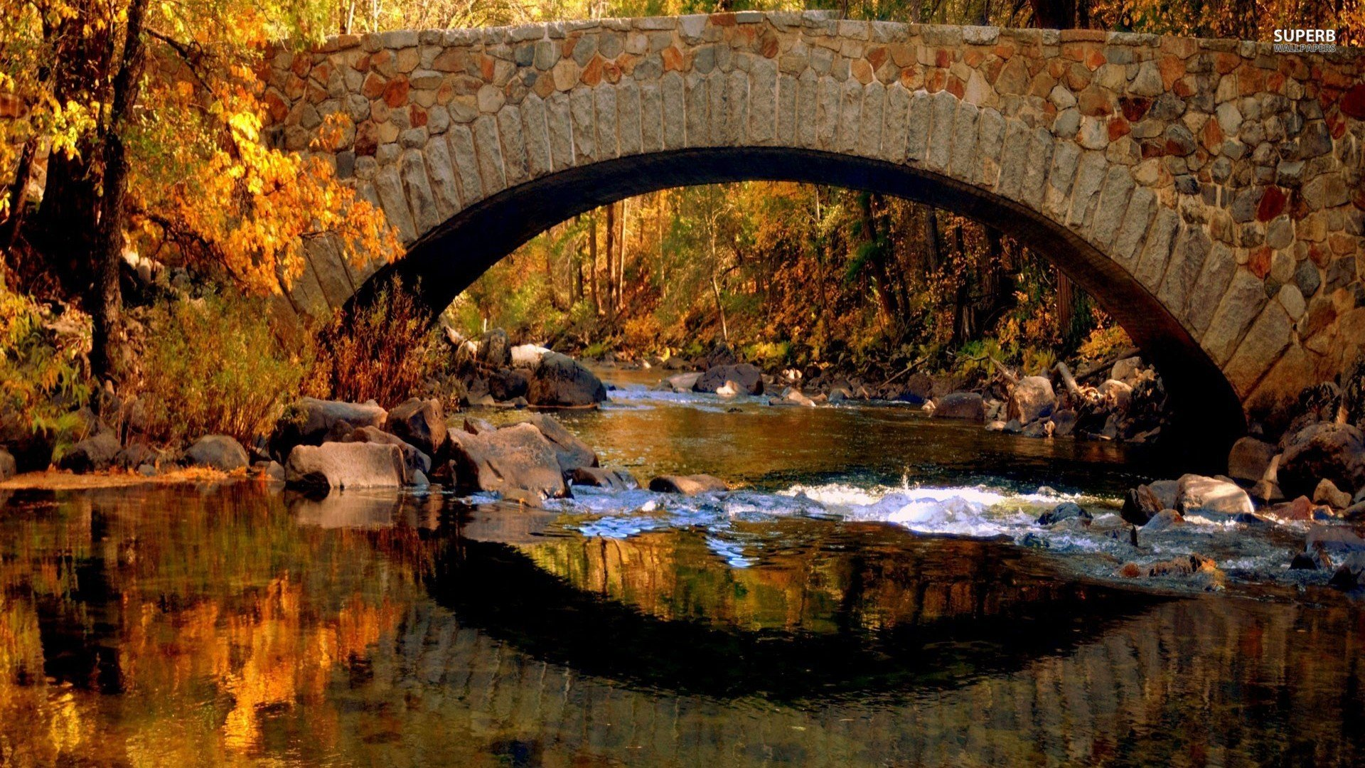 Fall Covered Bridge Desktop Wallpaper - WallpaperSafari