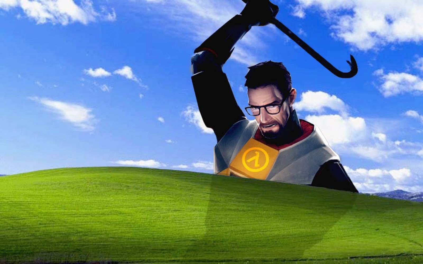 freeman microsoft windows halflife 2 1024x768 wallpaper Wallpaper 1600x1000