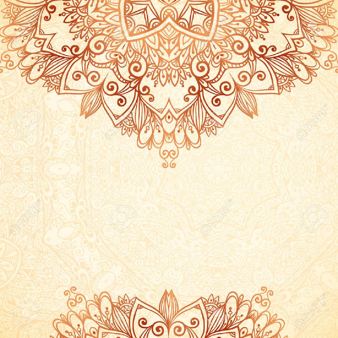 Ornate Vintage Background In Mehndi Style Royalty Cliparts 1300x1300