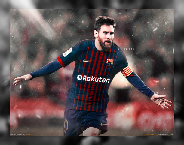 Lionel Messi   FC Barcelona 2017 Home Kit by 612x483