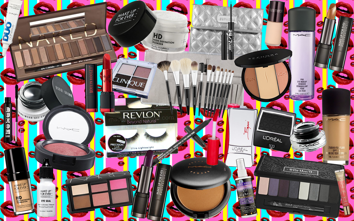 Makeup Collage Wallpaper Saubhaya Makeup