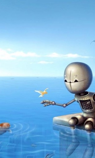 View bigger   Cute Robots Wallpapers for Android screenshot 307x512