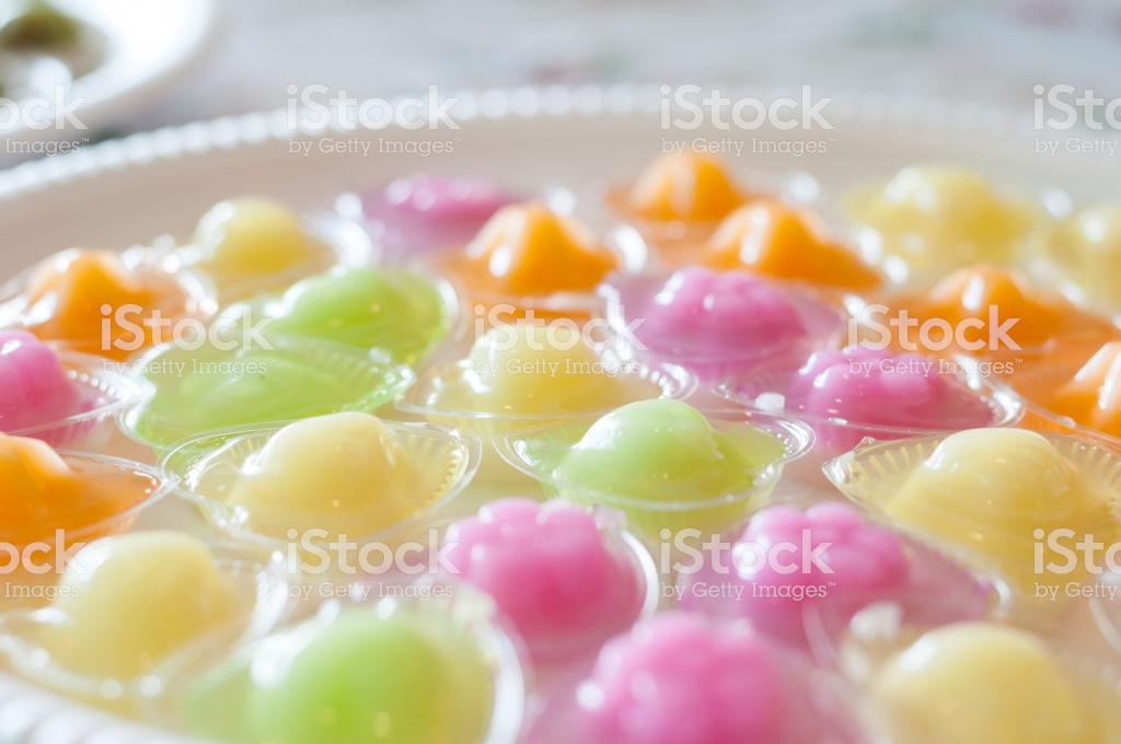 Jelly Colorful Cocktail In Cup Thai Taste Background Dessert 1024x680