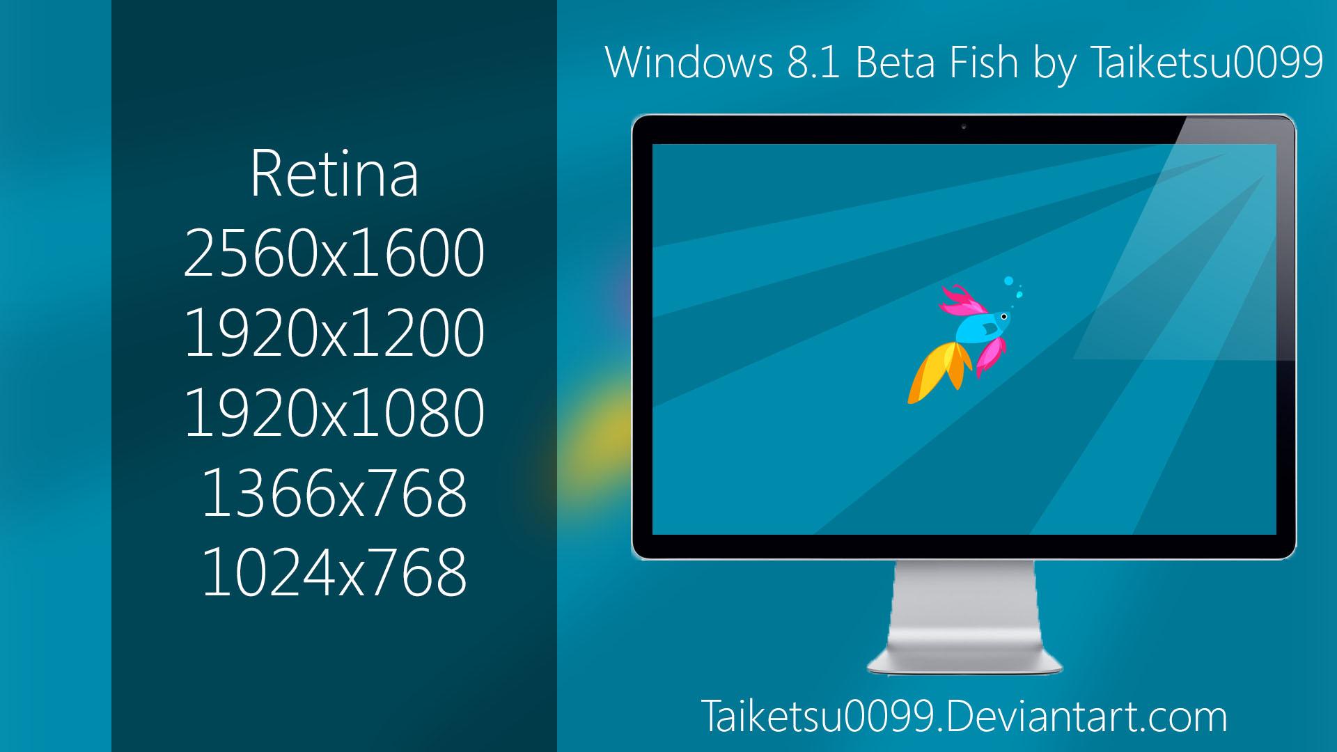 Windows 81 Beta Fish by Taiketsu0099 by Taiketsu0099 1920x1080