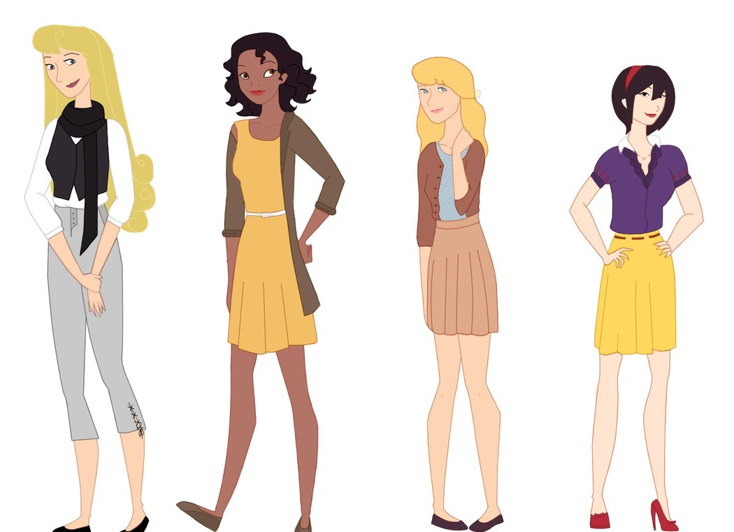 Modern Disney Princesses by iToriiii 1050x761
