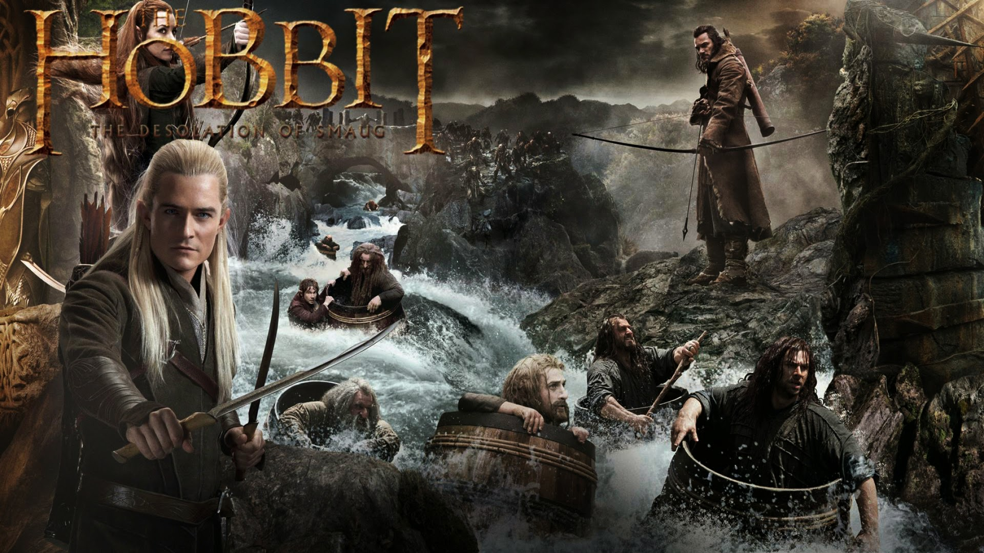 New The Hobbit The Desolation of Smaug Wallpaper HiresMOVIEWALLcom 1920x1080