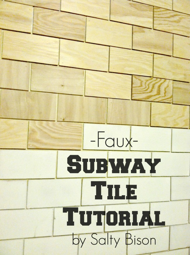 Faux Subway Tile Wallpaper Backsplash Tutorial 600x600 View 0 So I Decided To Go The Woodworkers Route 650x870