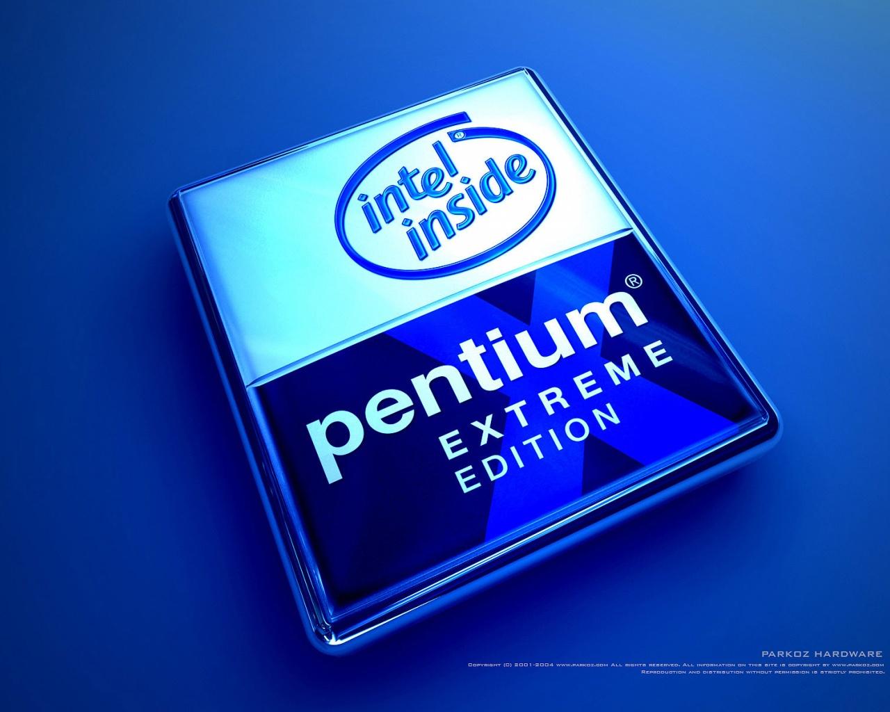 1280x1024 Blue Pentium desktop PC and Mac wallpaper 1280x1024