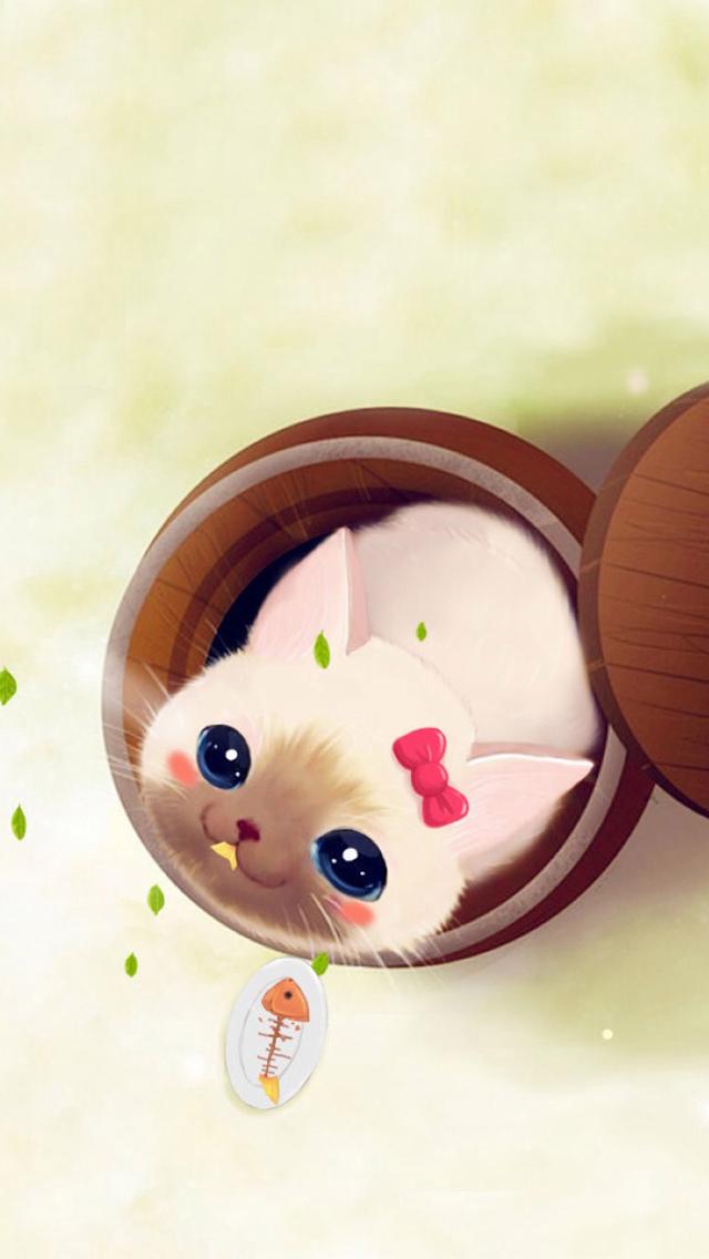 Cute Cup Kitten Wallpaper IPhone Wallpapers 640x1136