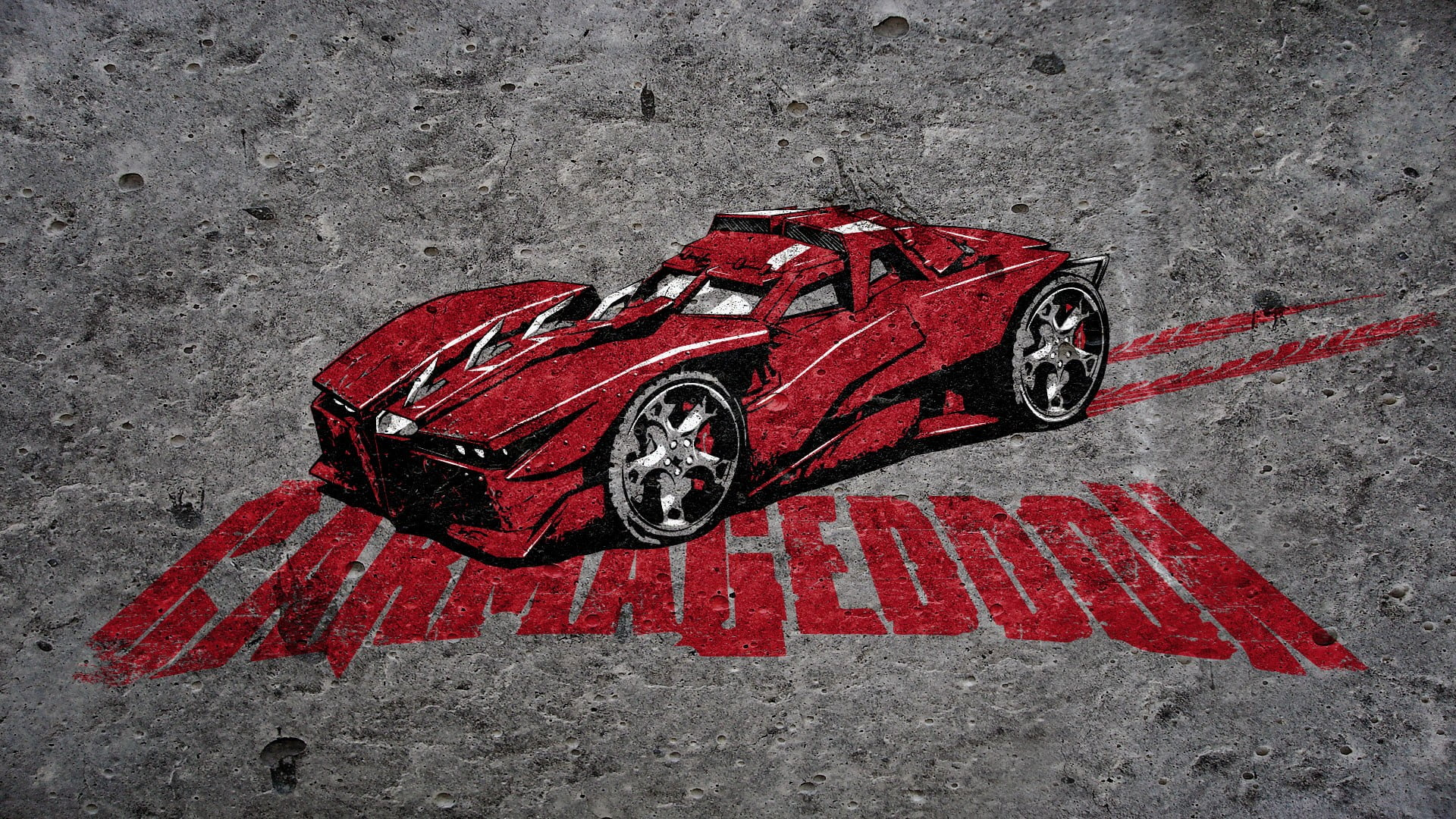 Red car digital wallpaper Carmageddon HD wallpaper Wallpaper Flare 1920x1080