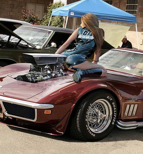 Ford Car Wallpaper: Girls And Muscle Cars Wallpaper