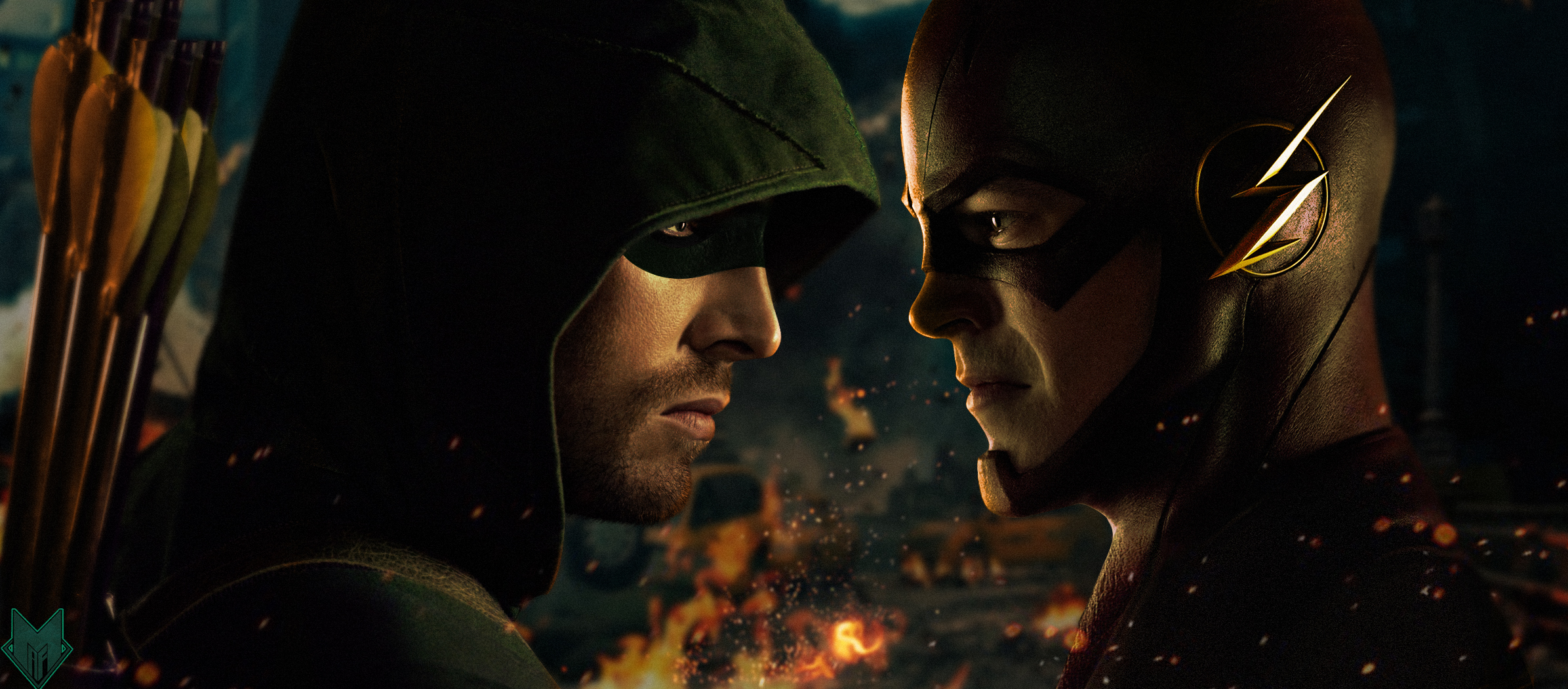 Flash vs Arrow HD Desktop Wallpapers digitalhintnet 2391x1050