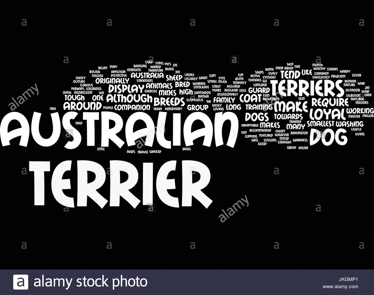 AUSTRALIAN TERRIERS MAKE LOYAL PETS Text Background Word Cloud 1300x1028