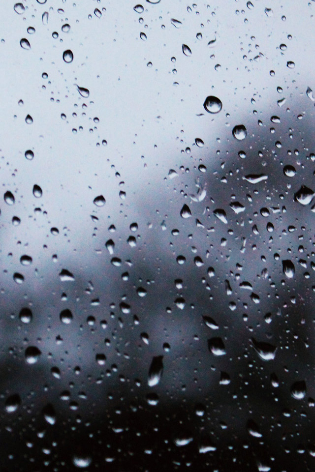 iPhone Raindrops Wallpaper 640x960