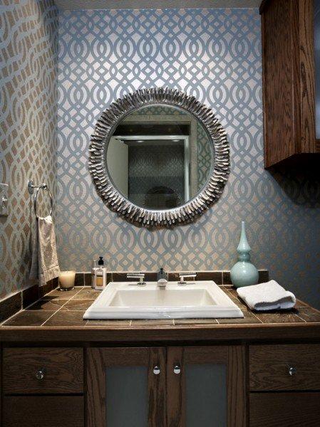 Bathroom Wallpaper Beautiful Homes Design 449x600
