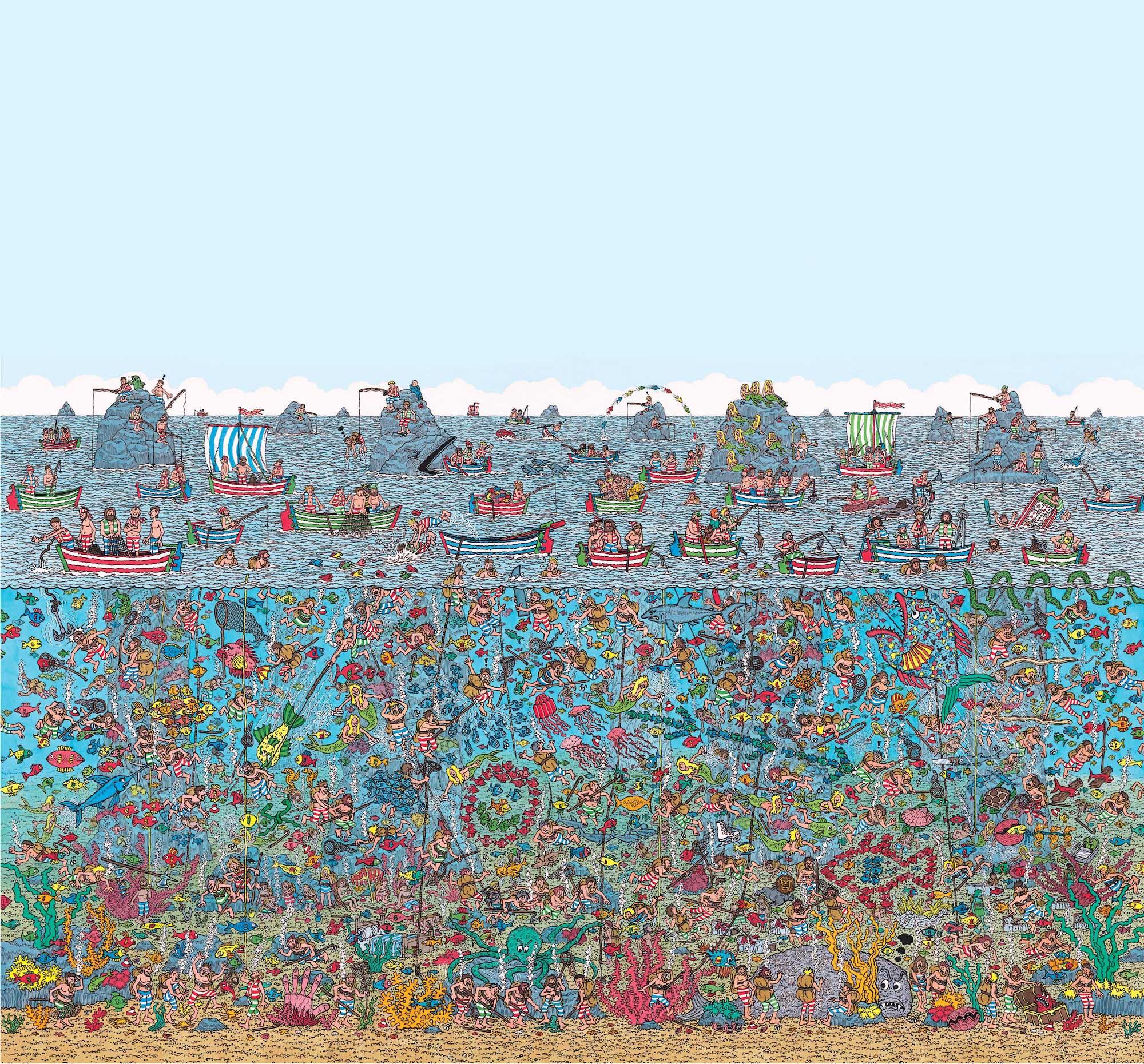 Style Themed Wallpaper Mural Wheres Wally Deep Sea 2000x1861