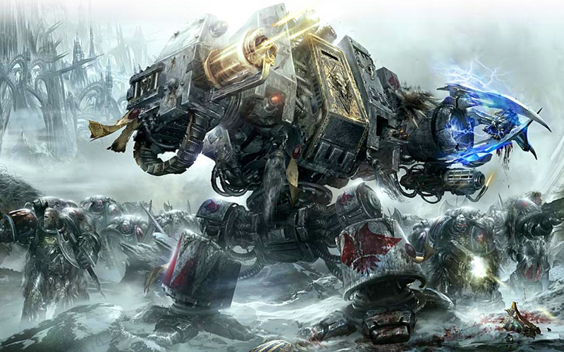 warhammer 40k space wolf dreadnaught 1600x1000 wallpaper Aircraft 800x500