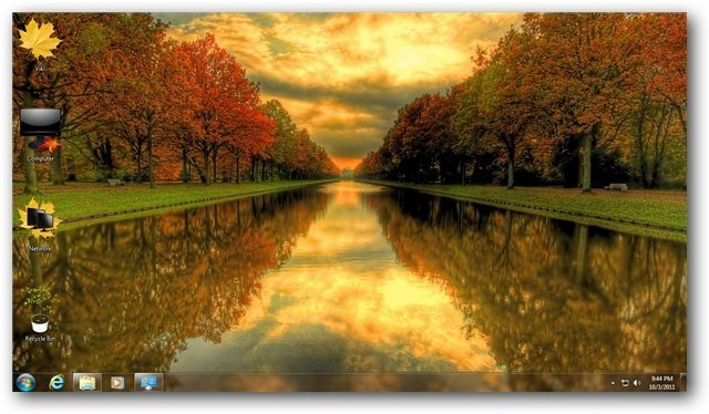 Autumn Theme for Windows 7 and Windows 8 [Nature Themes] 640x374