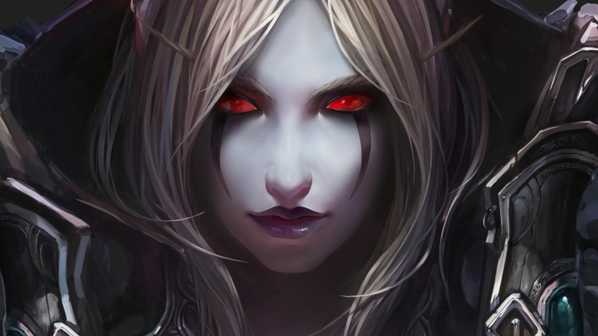 beautiful fantasy girl red eyes wallpaper hd fantasy 1920x1080 a694 1920x1080