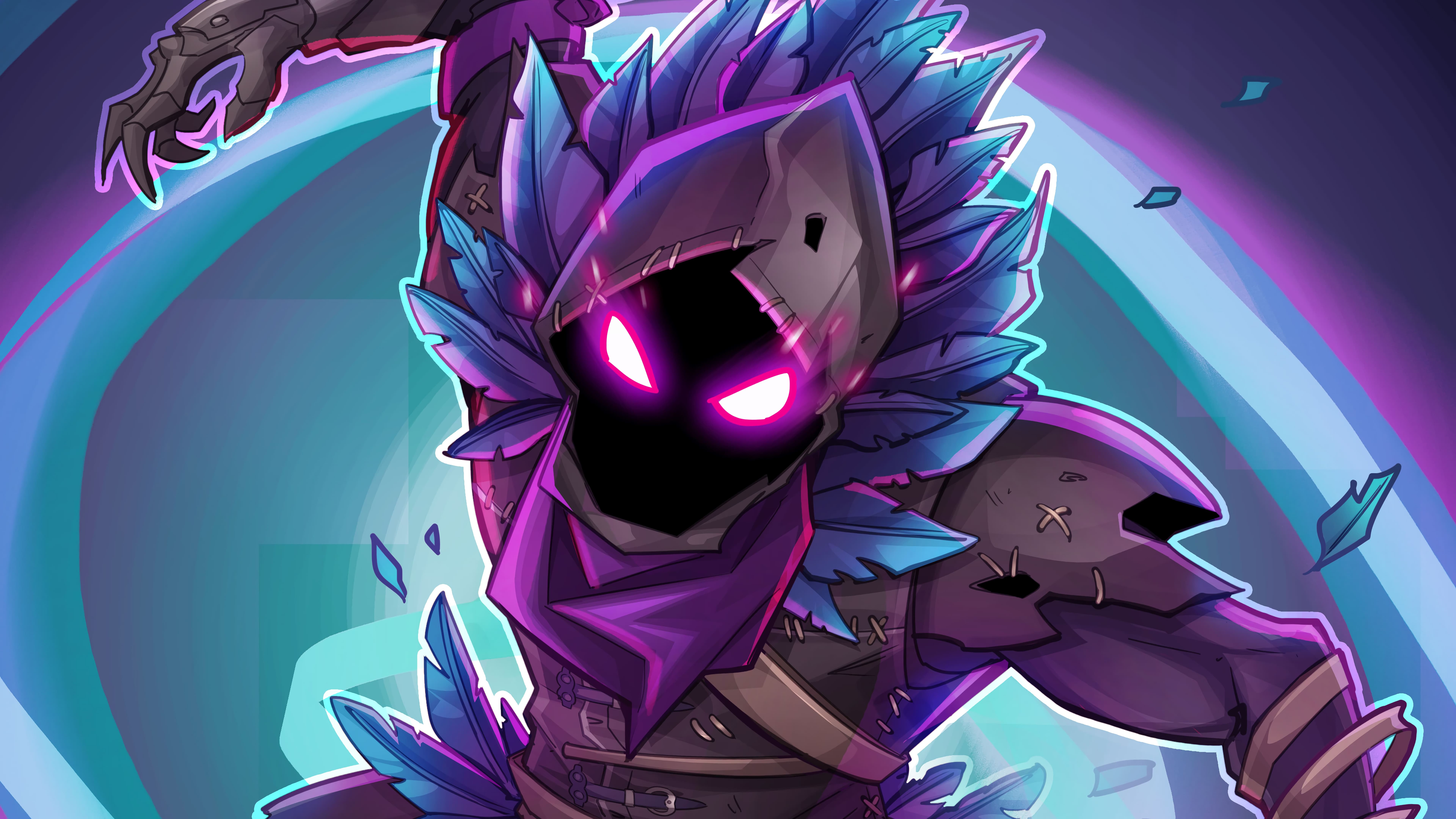 7K Background Raven Fortnite Battle Royale Art 4042 Wallpapers 7680x4320
