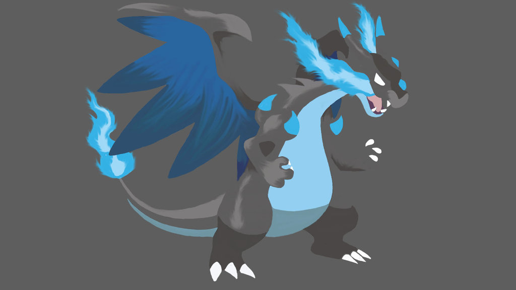 Simple Mega Evolution Charizard X Wallpaper by oOxCriesInVainxOo on 1024x576