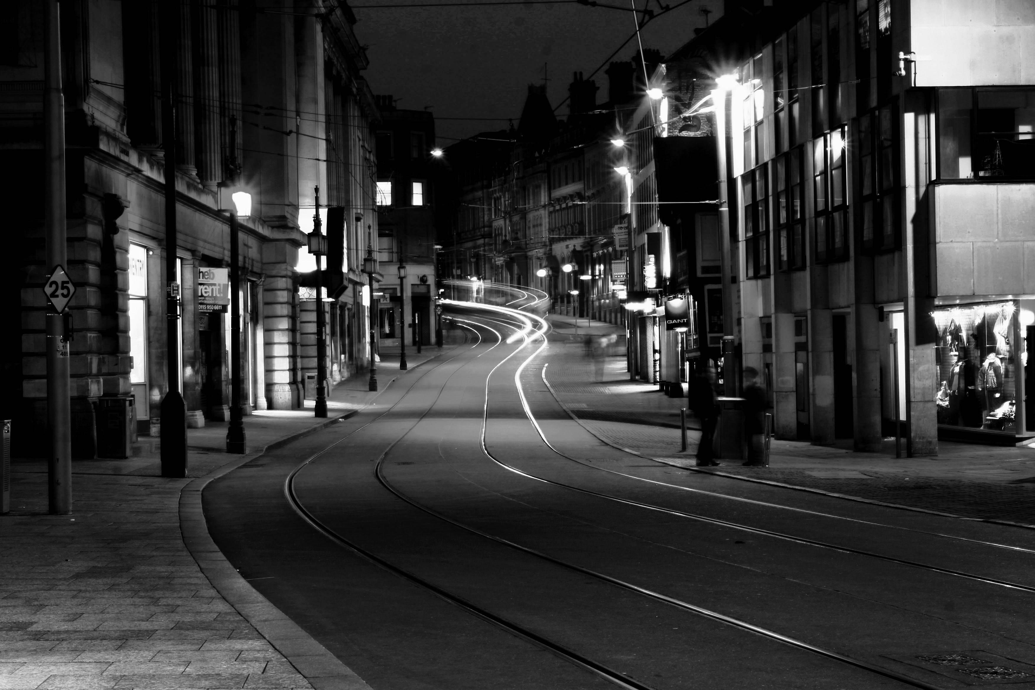 Empty City Street Background image gallery 3504x2336